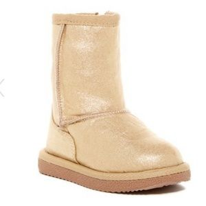 Harper Canyon Gold Faux Suede Boots